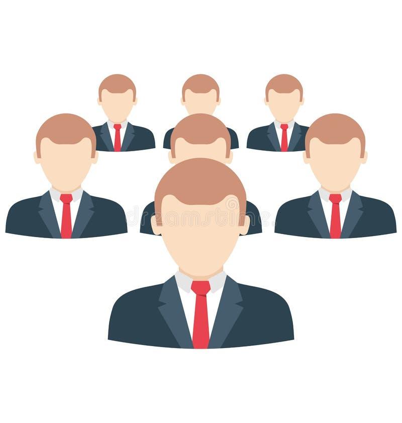 Il gruppo di affari, clienti ha isolato che possono essere facilmente pubblicano o ha modificato illustrazione di stock