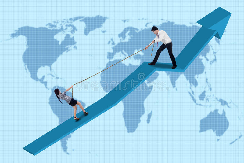 Il gruppo di affari sopravvive a illustrazione di stock