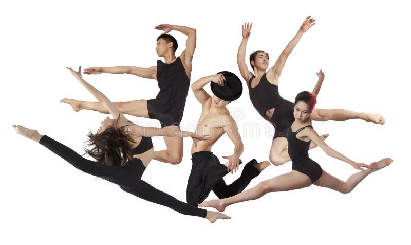 Il gruppo di ballerini di balletto moderno fotografie stock