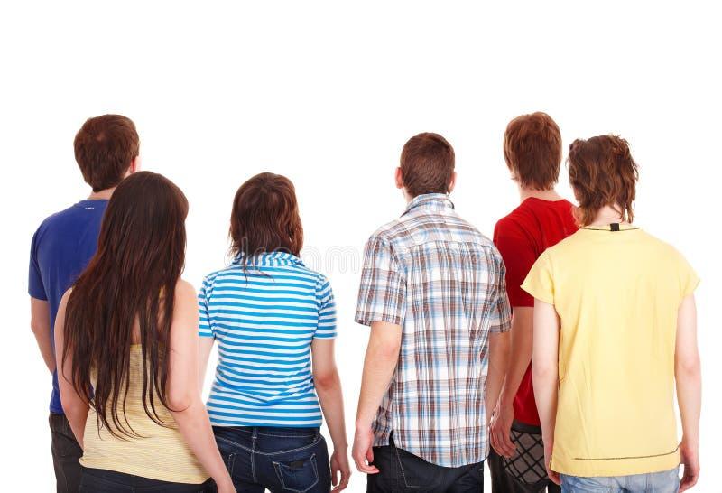 Il gruppo di giovani va via. immagini stock libere da diritti