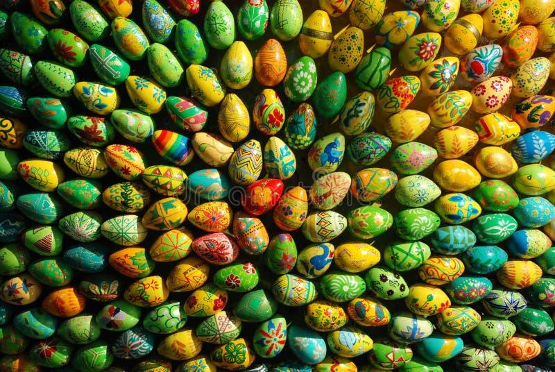 Il gruppo di uova di Pasqua Gradice il fascio fotografia stock libera da diritti