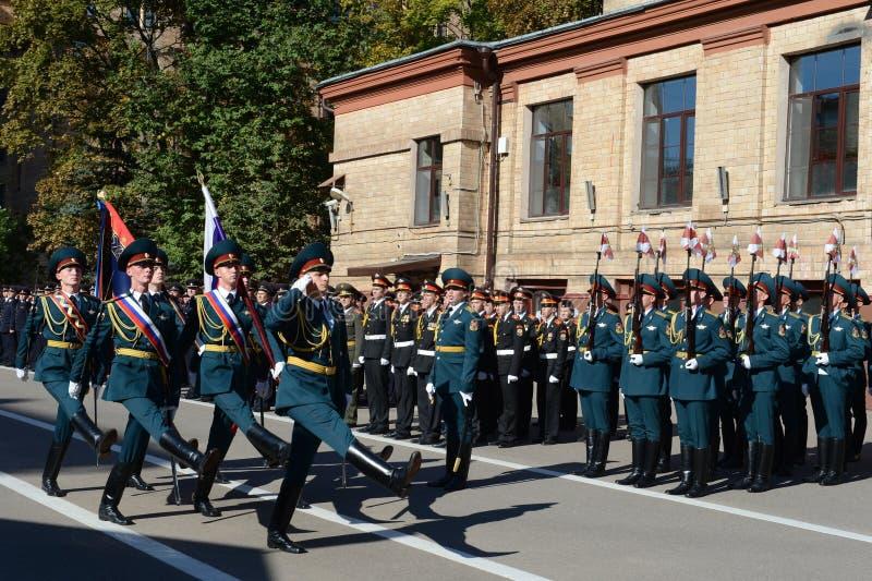 Il gruppo standard della guardia di onore, truppe interne del MIA della Russia fotografia stock