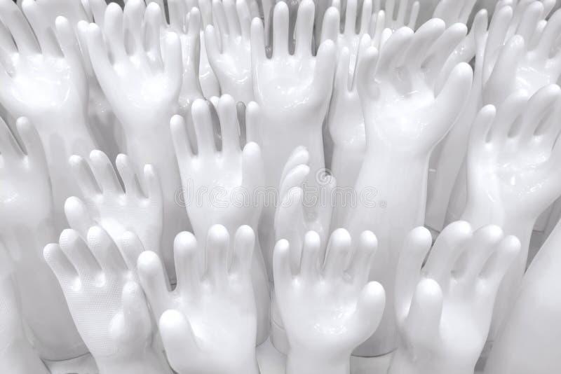 Il guanto di gomma ceramico modella per fare i guanti t di lavaggio e di pulizia fotografia stock