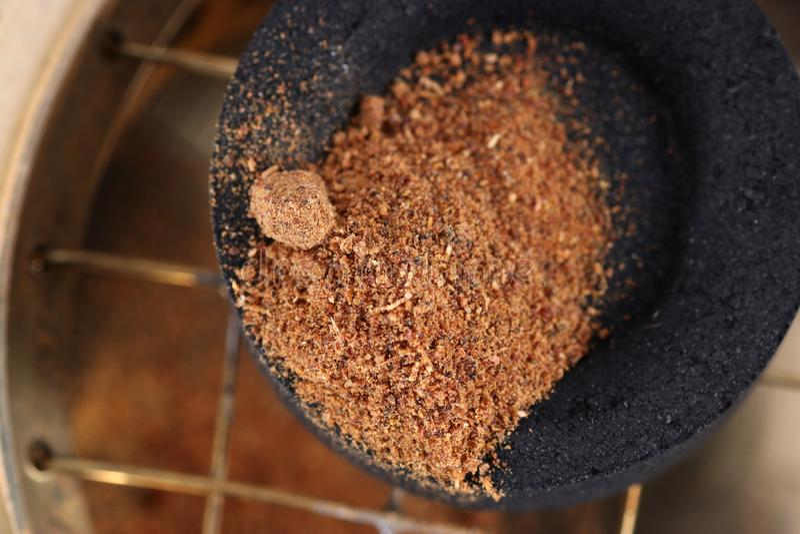 Il harz fragrante è offerto solitamente nella sua forma della resina immagine stock