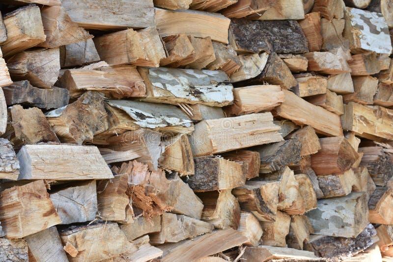 Il ` HD della legnaia ha tagliato la foto di legno delle azione del mucchio fotografia stock libera da diritti