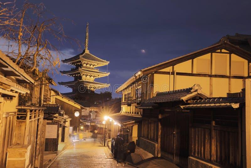 il Hokanji Kyoto, Giappone al santuario di Yasaka immagini stock libere da diritti