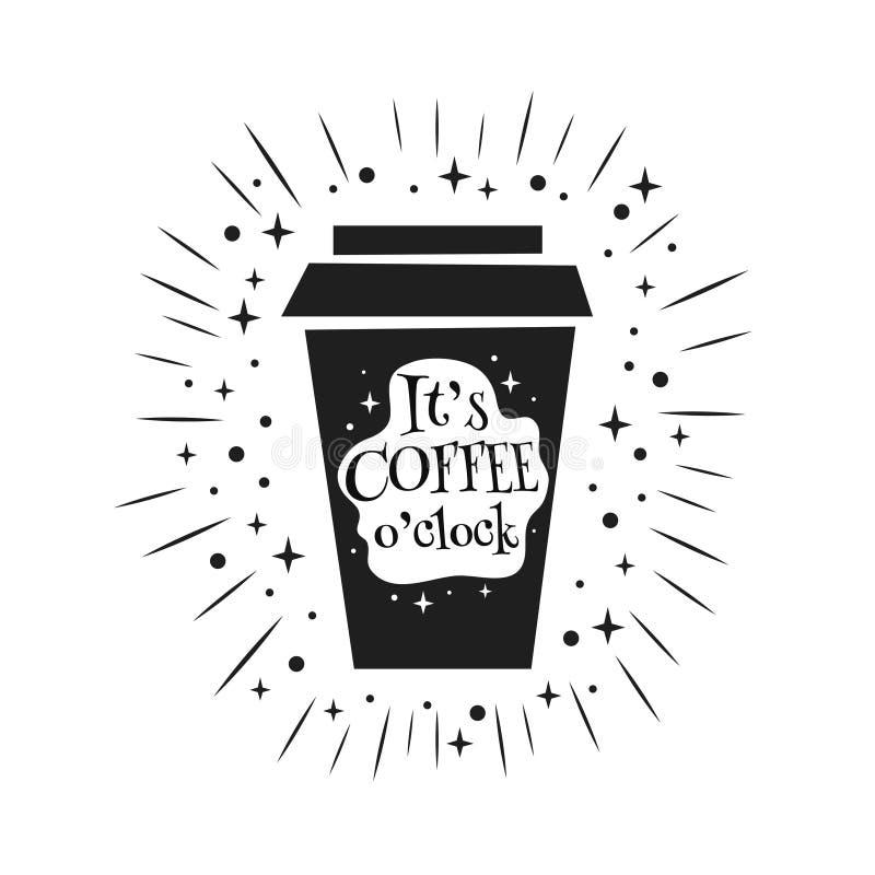 Il horloge de ` du caf? o du ` s illustration stock