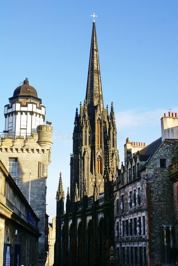 Il hub e camera obscura a Edimburgo, Scozia immagini stock libere da diritti
