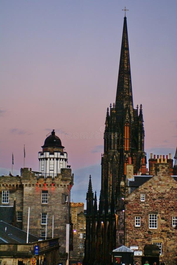 Il hub e camera obscura a Edimburgo, Scozia fotografie stock libere da diritti