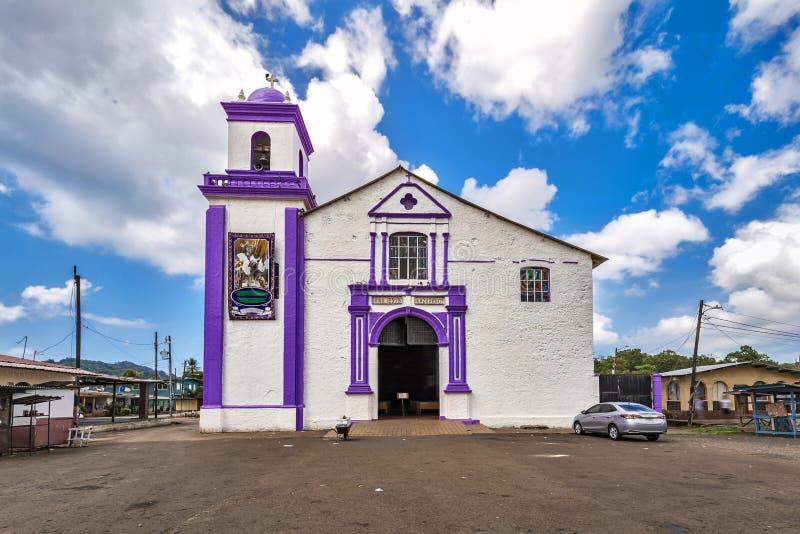 Il Iglesia de San Felipe Black Christ Church - Portobelo, Panama immagini stock libere da diritti