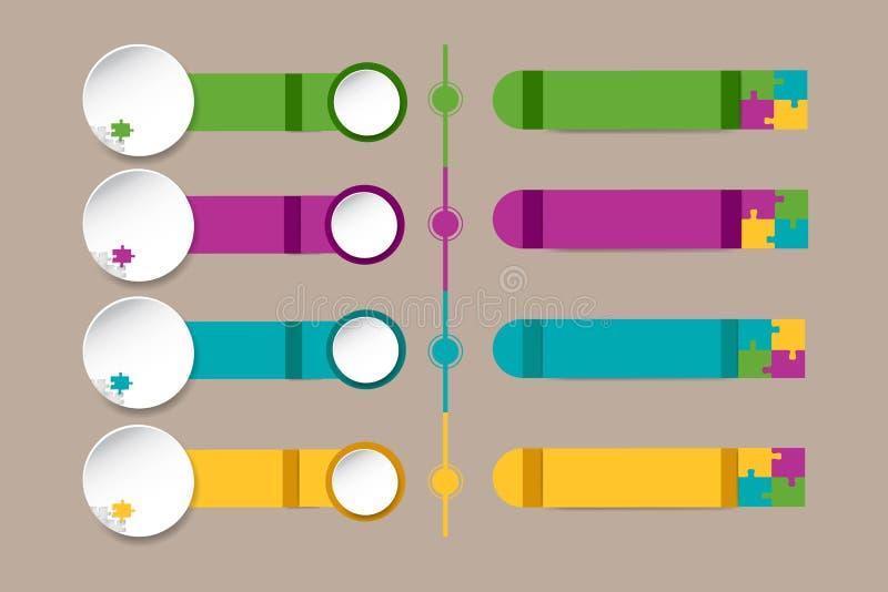 Il infograph identifica decorato dai pezzi di puzzle illustrazione di stock