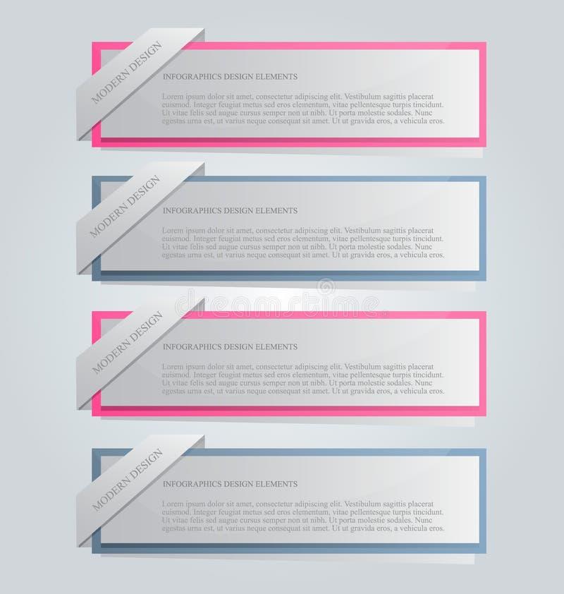 Il infographics di affari cataloga il modello per la presentazione, l'istruzione, il web design, l'insegna, l'opuscolo, aletta di royalty illustrazione gratis