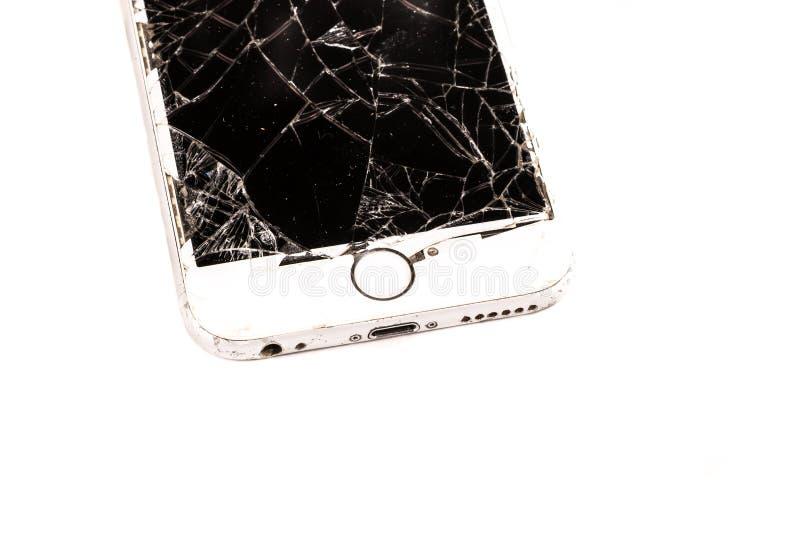 Il iPhone rotto 6S si è sviluppato dalla società Apple inc fotografia stock