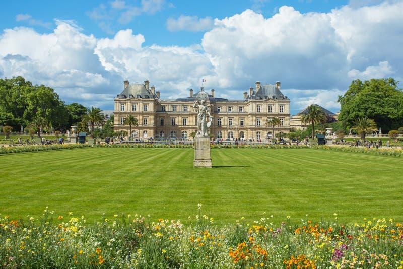 Il Jardin il du Lussemburgo, o il Lussemburgo fa il giardinaggio, situato nella t fotografie stock libere da diritti