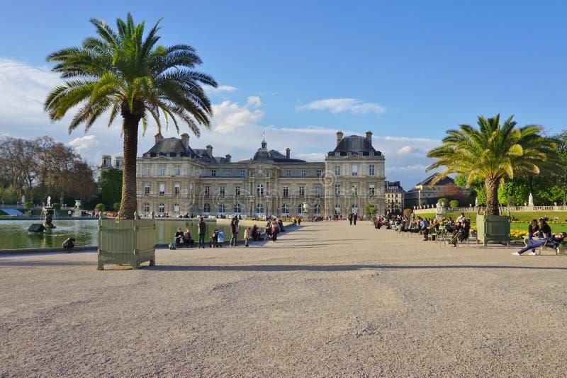 Il Jardins il du Lussemburgo fa il giardinaggio a Parigi fotografia stock libera da diritti