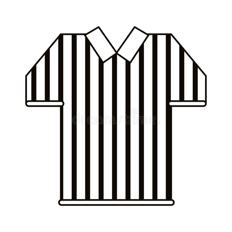 Il jersey dell'arbitro barra il profilo di football americano illustrazione di stock