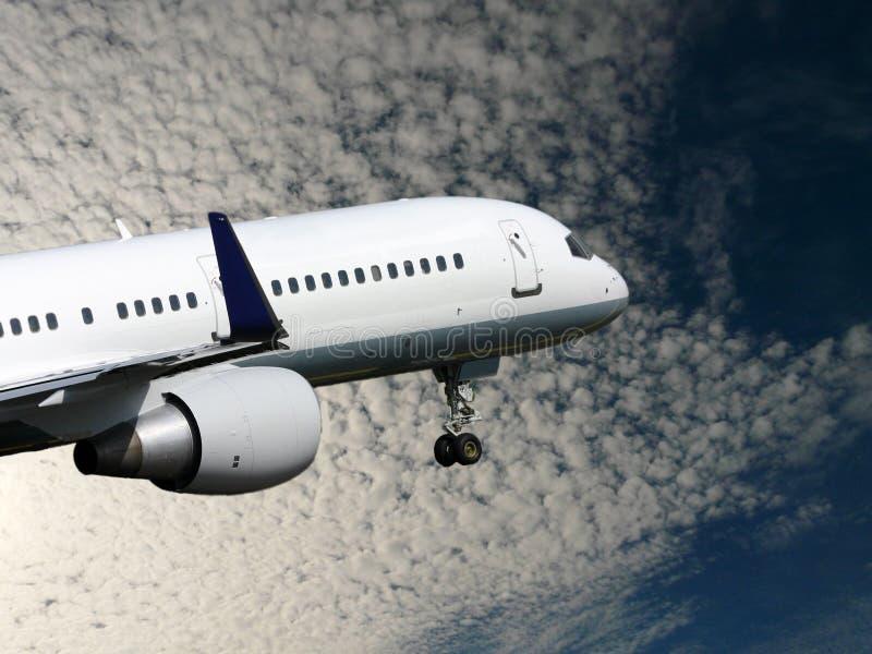 Il jet bianco toglie fotografia stock