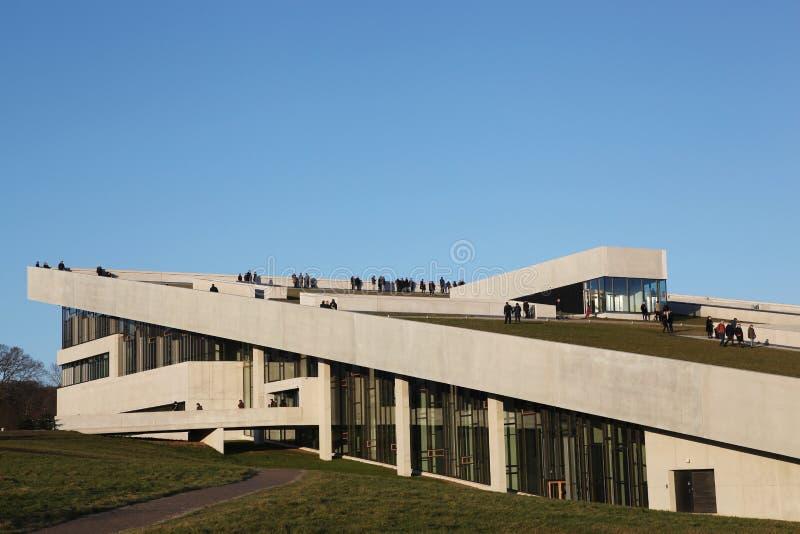 Il Kunstmuseum di ARoS Aarhus immagine stock libera da diritti