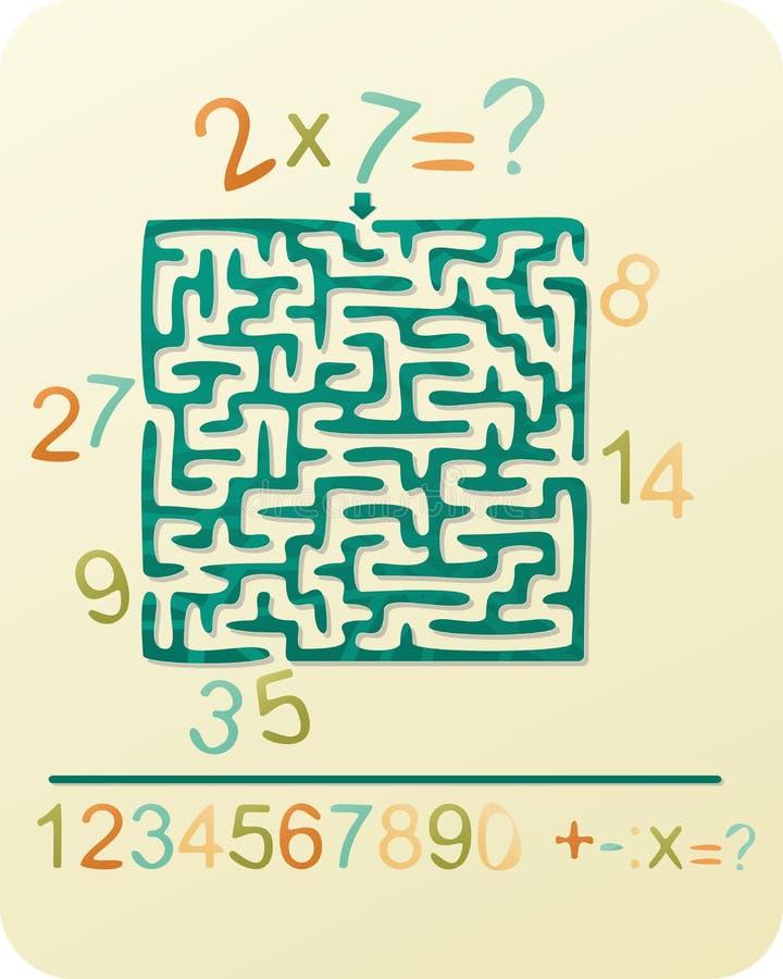 Il labirinto del numero illustrazione vettoriale