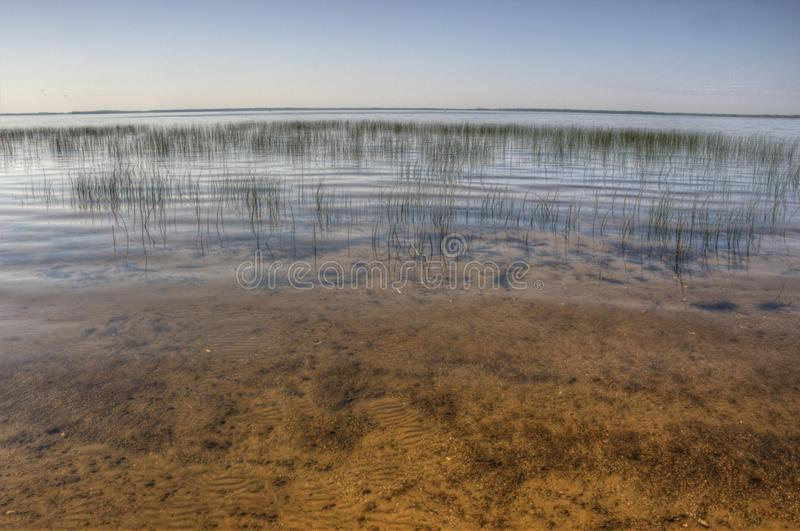 Il lago Bowstring fa parte del nativo americano Reserva del lago leech fotografia stock libera da diritti