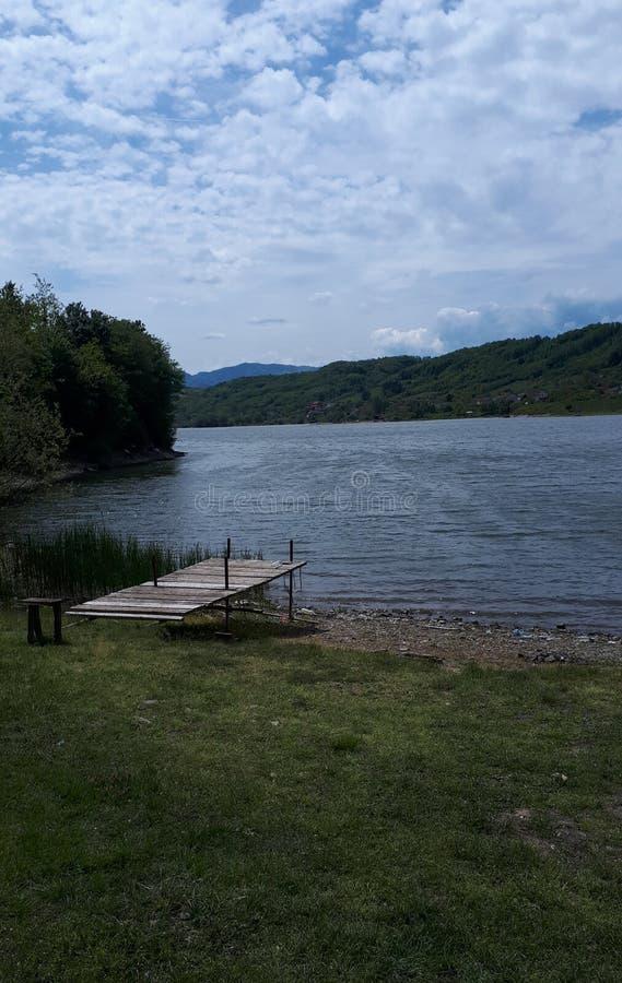 Il lago Celije in Serbia immagine stock libera da diritti
