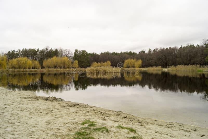 Il lago di autunno immagini stock