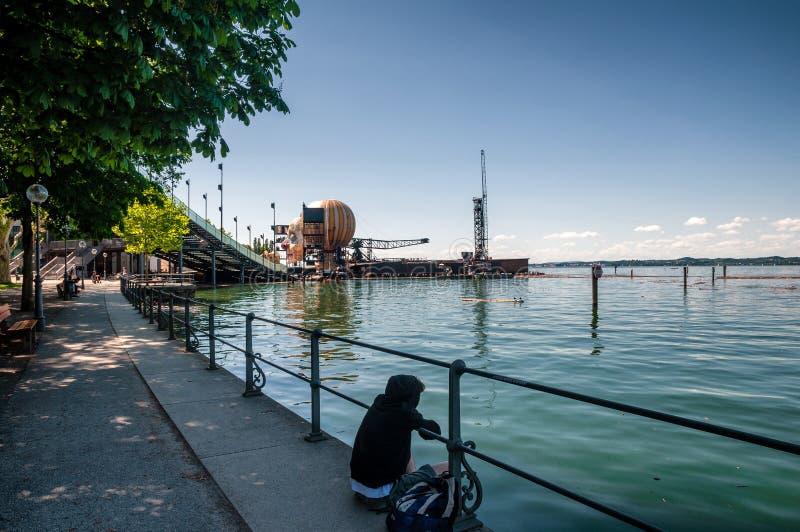 Il lago di Costanza, passeggiata di Bodensee fotografie stock libere da diritti