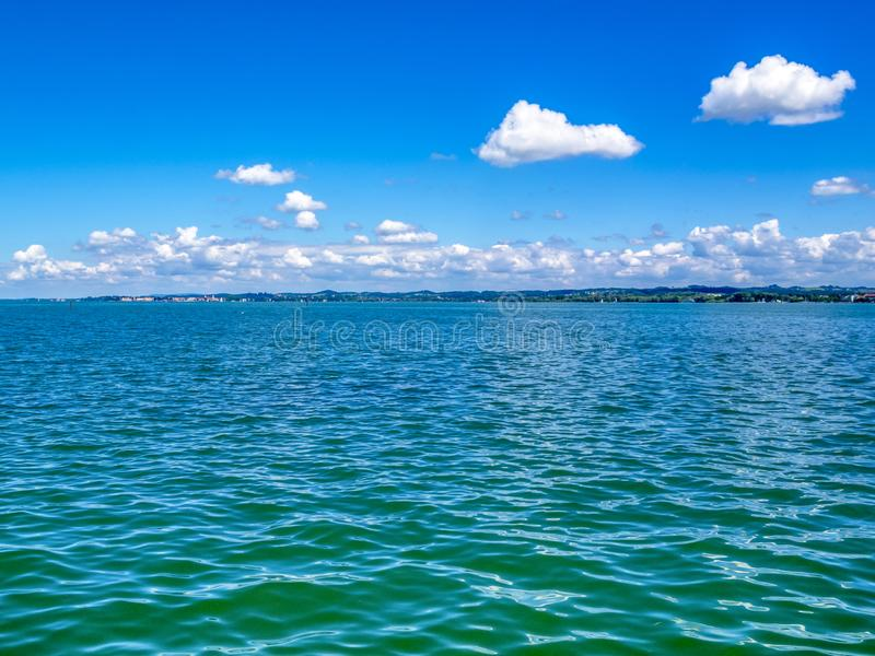 Il lago di Costanza, vista di Bodensee in Bregenz, Austria fotografie stock