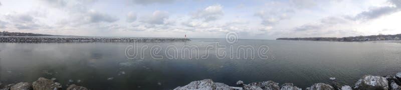 Il lago Erie - Rochester, New York fotografie stock