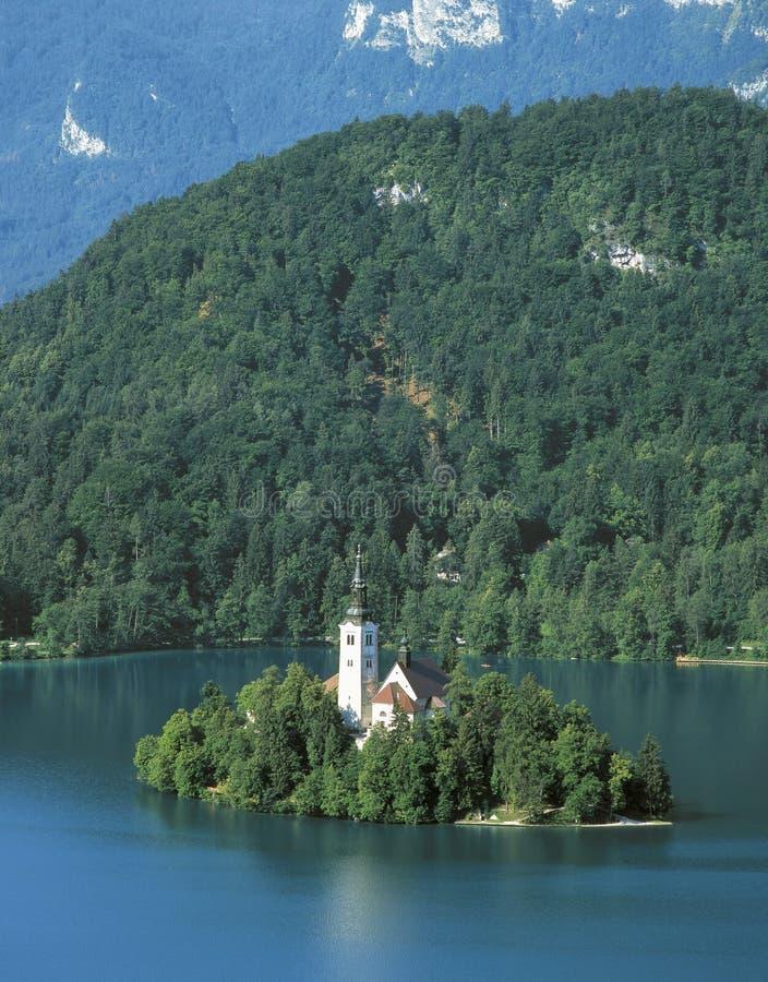 Il lago ha sanguinato fotografie stock libere da diritti