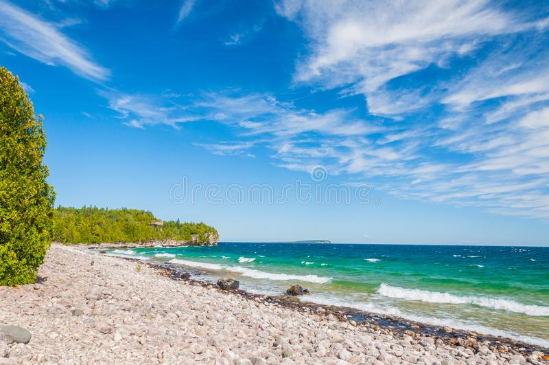 Il lago Huron in Bruce Peninsula National Park, Ontario, Canada immagini stock