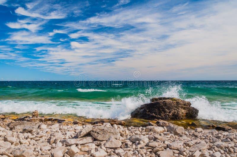 Il lago Huron in Bruce Peninsula National Park, Ontario, Canada fotografia stock