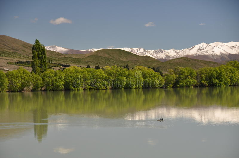 Il lago incontaminato immagine stock