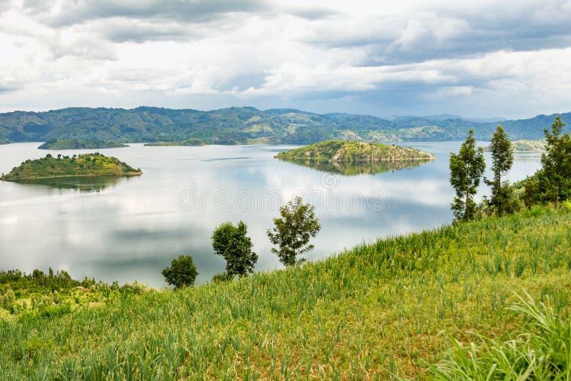 Il lago Kivu nel Ruanda fotografia stock