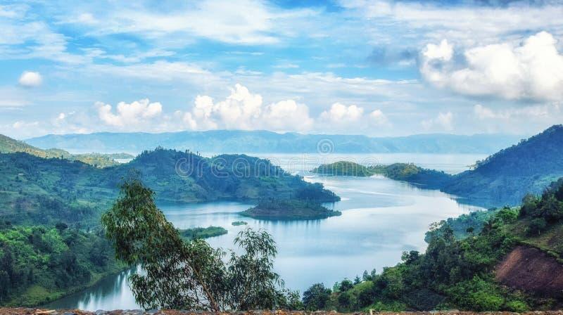 Il lago Kivu immagini stock