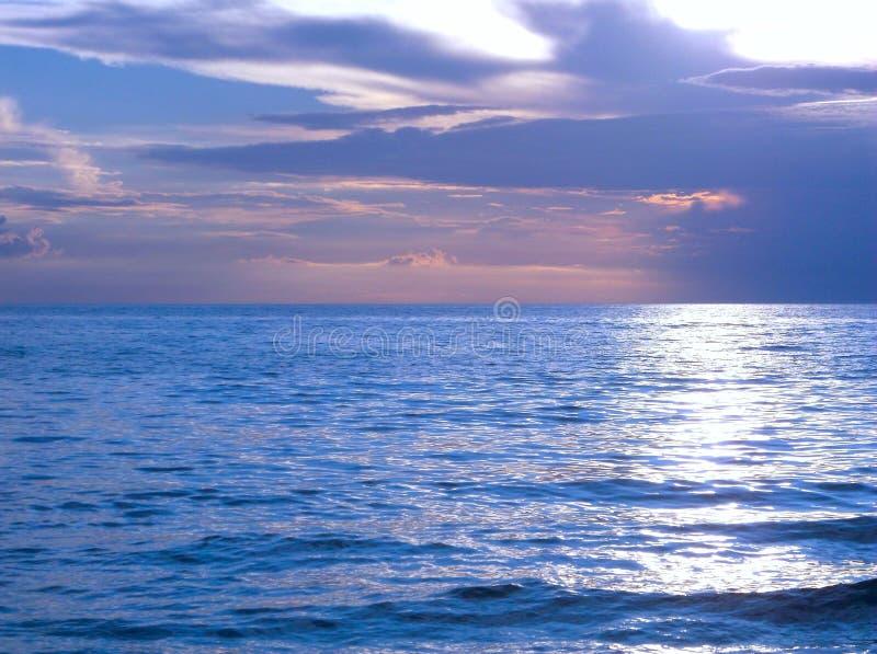 Il lago Michigan emette luce immagine stock libera da diritti