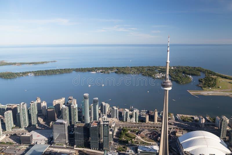 Il lago Ontario da Toronto fotografia stock