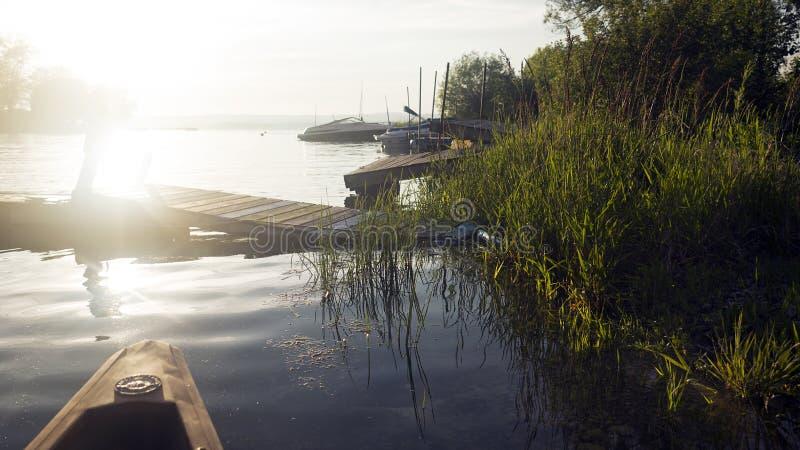 Il lago Ontario Shoreline - baia di Presqu'ile al tramonto fotografie stock libere da diritti