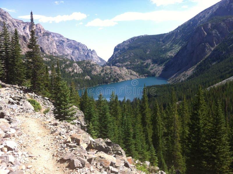 Il lago trascura immagini stock