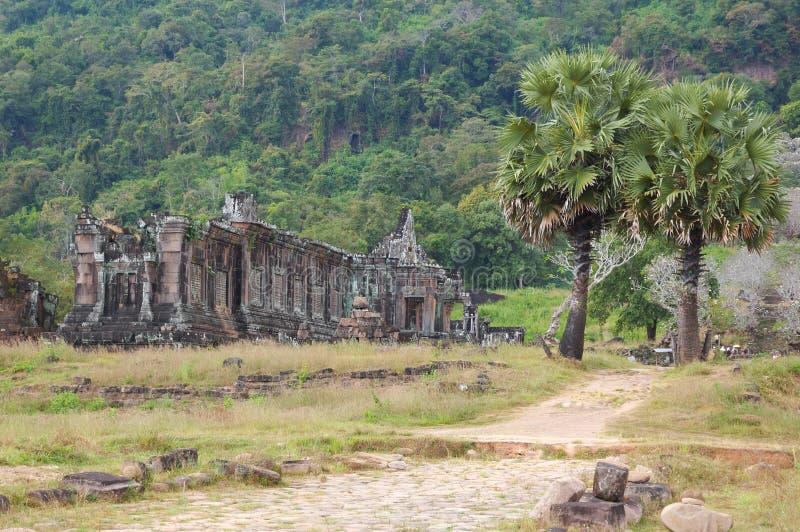 Il Laos - Wat Phu fotografie stock