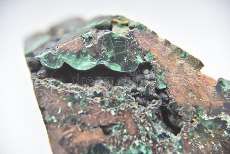 Il lato della roccia della malachite immagini stock libere da diritti
