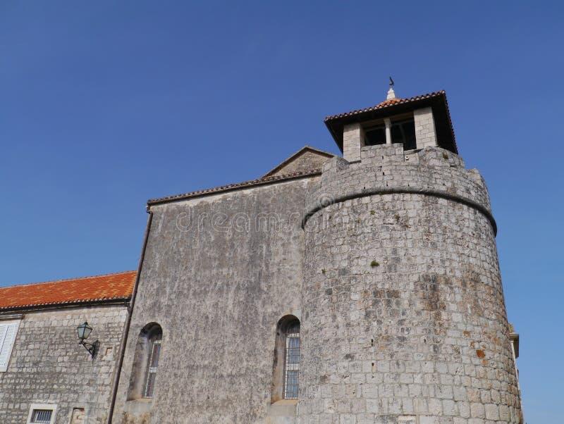 Il laureato storico di Stari della città sull'isola Hvar immagini stock libere da diritti