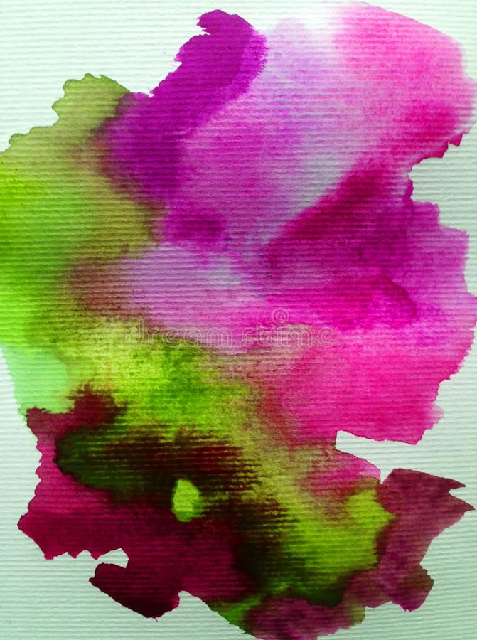 Il lavaggio bagnato di struttura della natura della nuvola del fondo dell'estratto di arte dell'acquerello ha offuscato la fantas illustrazione vettoriale