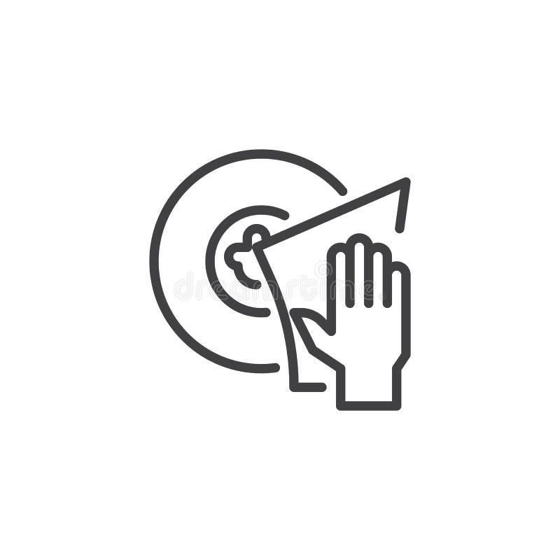 Il lavaggio della mano serve l'icona del profilo illustrazione di stock