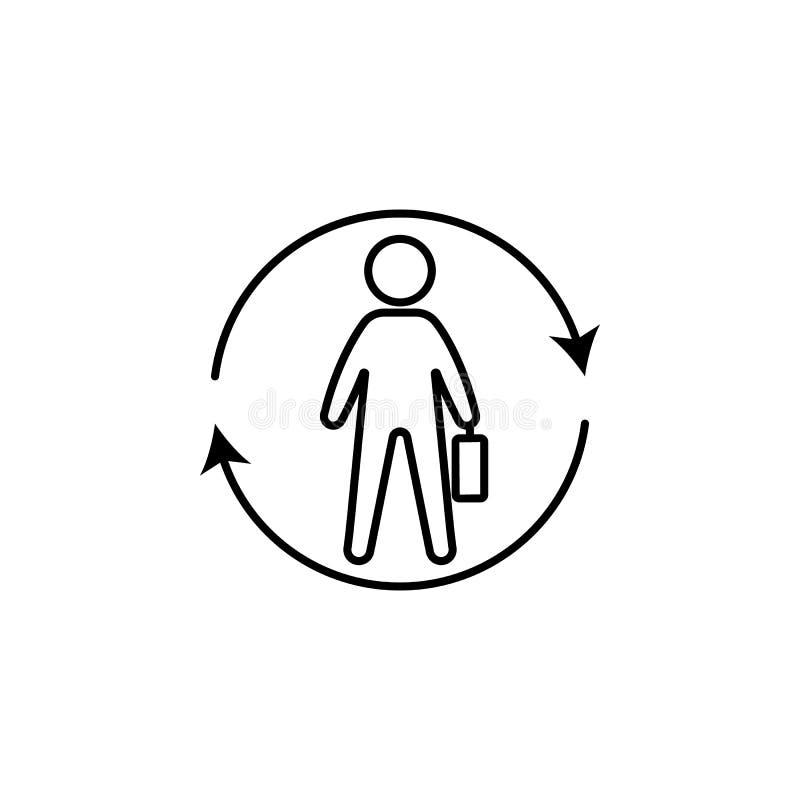 Il lavoratore, rinfresca l'icona su fondo bianco Può essere usato per il web, il logo, il app mobile, UI, UX illustrazione vettoriale