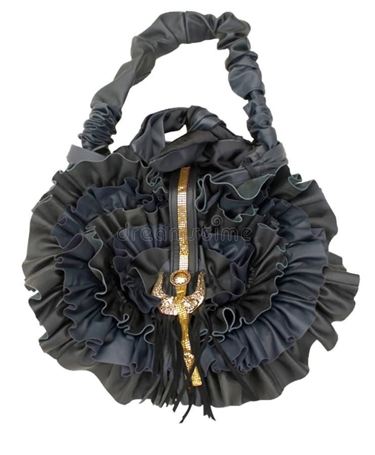 Il lavoro manuale del sacchetto, progetta il nero è aumentato fotografia stock libera da diritti