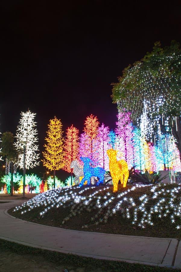 Il LED ha decorato il giardino fotografia stock