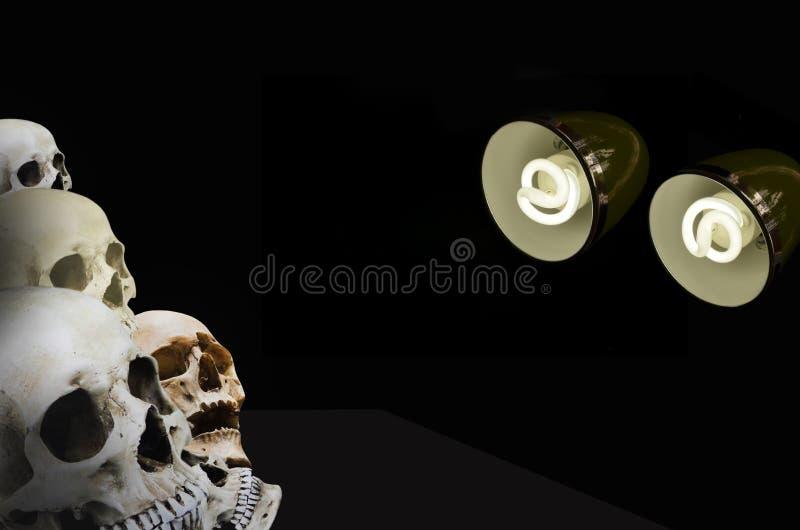 Il leggeri accendono nella notte immagini stock