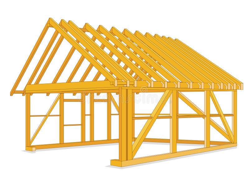 il legname alloggia la costruzione illustrazione di stock