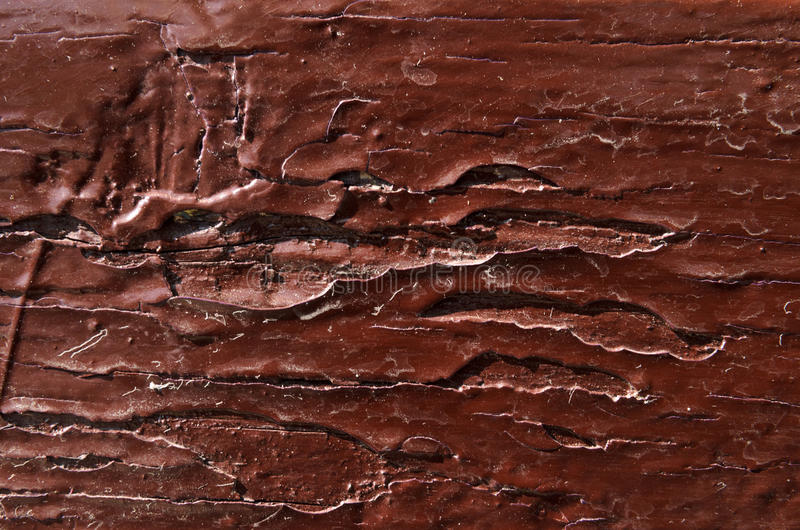 il legno è dipinto con dolore di marrone scuro immagine stock libera da diritti
